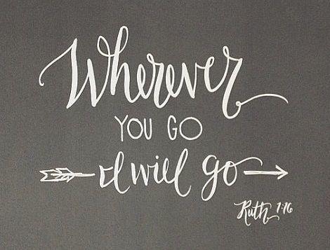 Wherever you go I will go